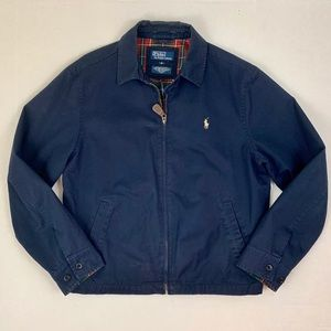 Polo by Ralph Lauren Navy Blue Zip Utility Jacket
